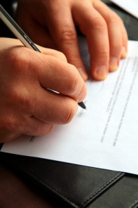 Signing Document - dreamstime_17082487